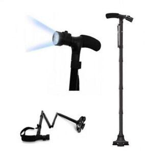 Light Up Safety Folding Walking Support Stick Flashlight