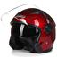 miniature 18 - Motorcycle-Helmet-Open-Face-w-Dual-Visor-Scooter-Unisex-Jet-Helmet-M-L-XL-XXL