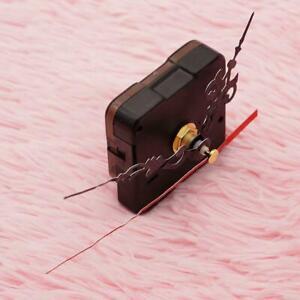 4X-Wanduhr-Quarz-Uhrwerk-Mechanismus-Reparatur-Set-Diy-Haende-Kit-Schwarz-T-B9O2