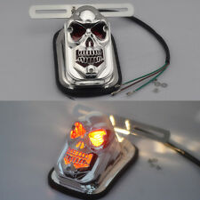 Universal Motorcycle Skull Headlights Rear Tail Light For Harley