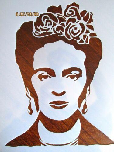 Mexican Artist Frida Kahlo Image Stencil//Template Reusable 10 mil Mylar Stencil