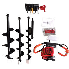52cc Engine Gas Powered Post Hole Digger Auger Drill Machine468 Drill Bits