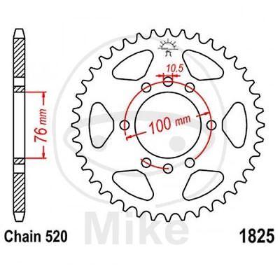 Abile Corona 40 Denti 520 Nera 727.01.79 Suzuki 250 Vl Intruder Lc 2000-2007 Crease-Resistenza