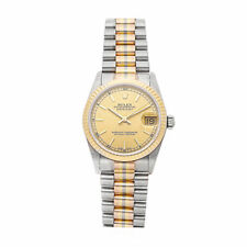 Rolex Datejust Tridor Auto 31mm Gold Ladies President Bracelet Watch 68279