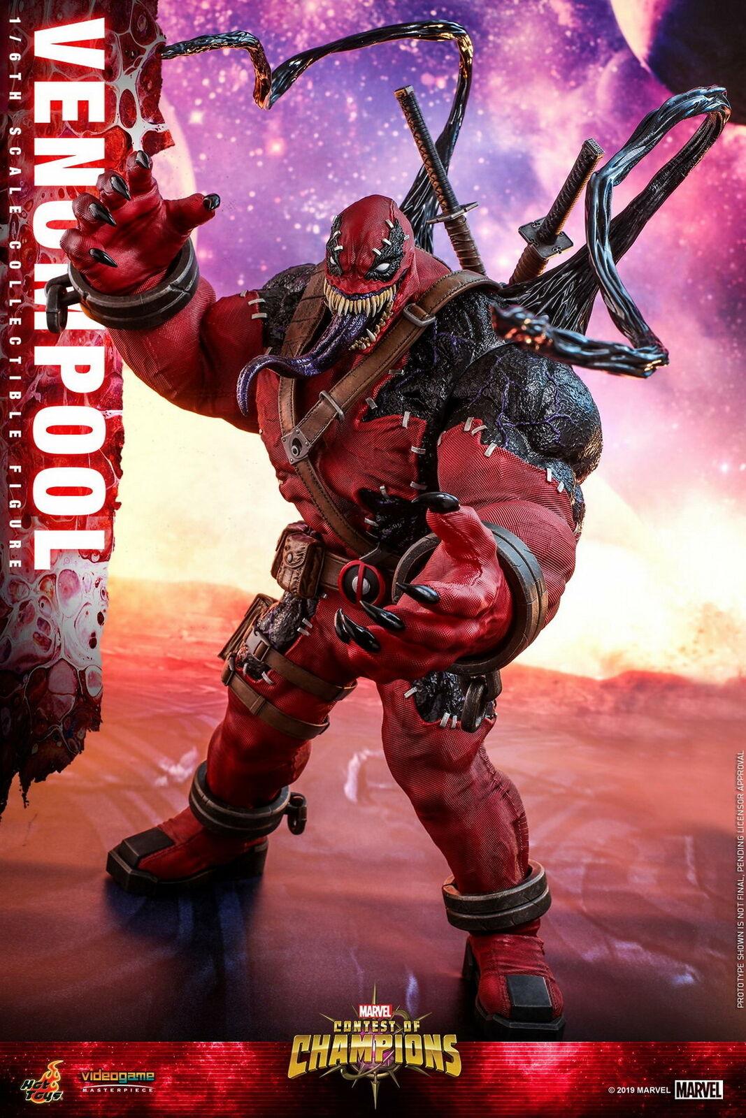 Hot Juguetes venompool 1 6 Escala Figura De Colección Marvel concurso de Champio VGM35