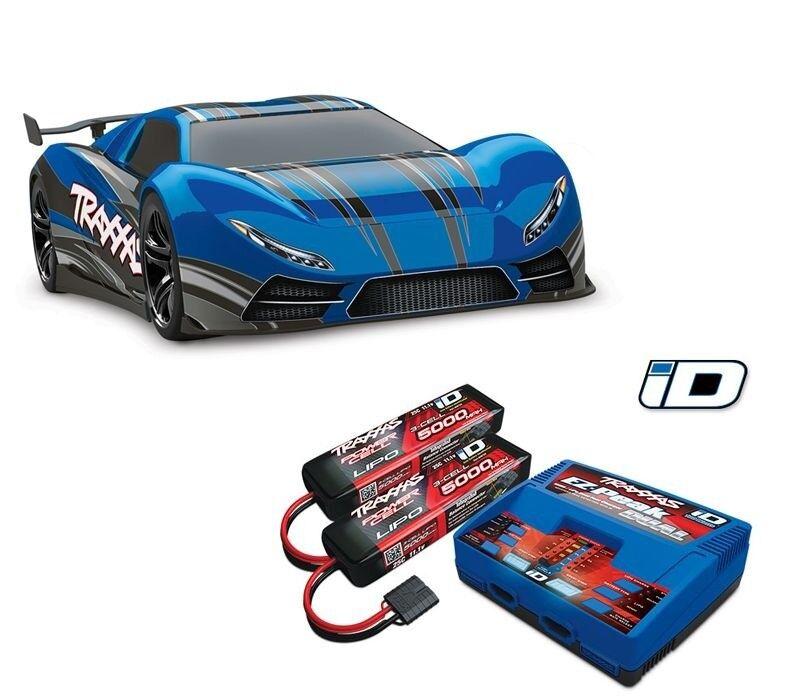 Traxxas x0-1 Supercar Supercar Supercar BL avec TSM TQ-WIRELESS + Batteries, Chargeur - 64077-3set e0377d