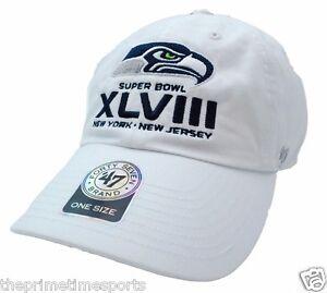 dde2e5541 Seattle Seahawks NFL  47 Brand Super Bowl Adjust Strapback WHITE ...