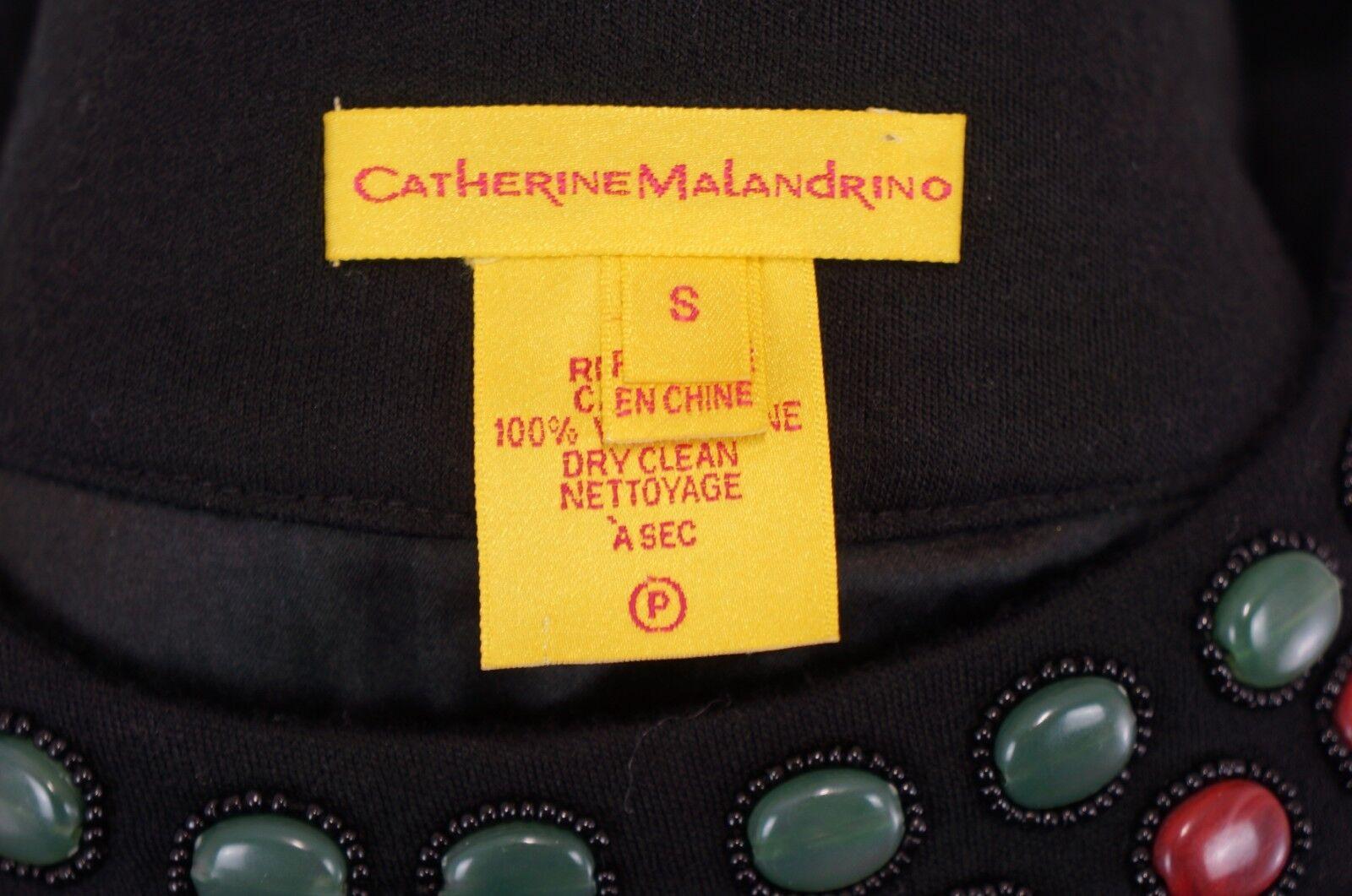 CATHERINE MALANDRINO  SEXY & EDEL DESIGNER COCKTAIL     FEST KLEID REINE WOLLE S  e0535d