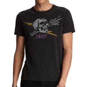 John-Varvatos-Star-USA-Men-039-s-Short-Sleeve-Liberty-Skull-Graphic-T-Shirt-Black