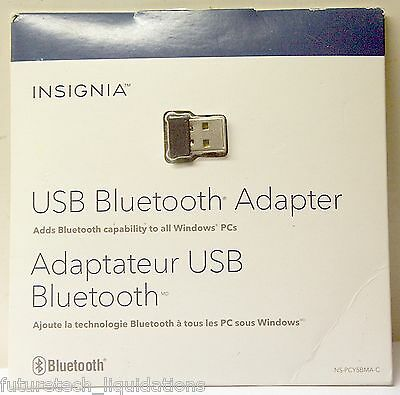 NS-PCY5BMA-C INSIGNIA USB BLUETOOTH ADAPTER FOR WINDOWS PC