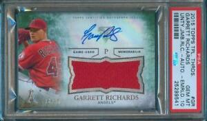 2015-Topps-Triple-Threads-GARRETT-RICHARDS-Game-Used-Jersey-Auto-23-50-PSA-10