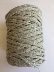 Medium T-Shirt Recycled Jersey Knitting Crochet Rug Yarn Olive