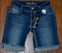 Ariya Jeans Curvy Bermuda Fancy Pockets Denim Shorts Choose Size 3/4 Or 5/6