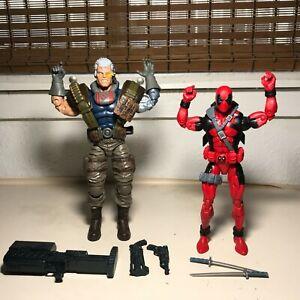 "Marvel Legends CABLE vs DEADPOOL Figure LOT Hasbro 6"" X-MEN Sasquatch BAF Series"