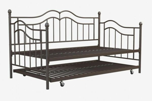 Realrooms Talia Twin Size Daybed Metal Frame and Twin Size ...