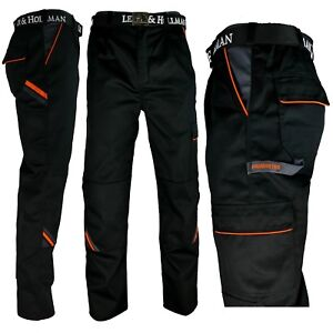 Arbeitshose-Hose-schwarz-grau-orange-Bundhose-Herren-Profi-Qualitaet-Gr-46-60