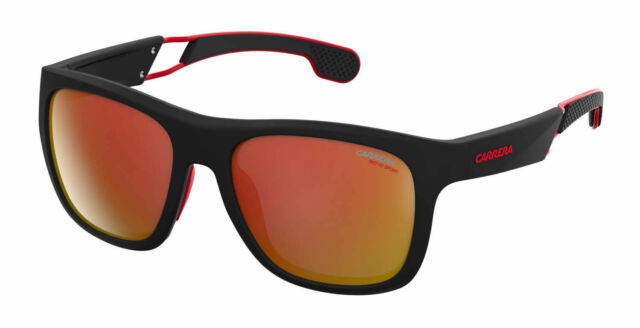 39ced375c203 Carrera Mens Sunglasses 4007 s 003bj Black Red Frame Sunset Iridium Mirrored