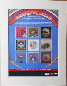GRATEFUL-DEAD-Remastered-amp-Expanded-2003-Music-Press-Poster-Type-Advert-In-Mount