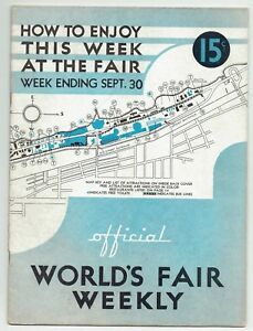 Details about SEPT  30, 1933 CHICAGO WORLD'S FAIR WEEKLY MAGAZINE MUSIC OIL  CANADA IOWA & MORE