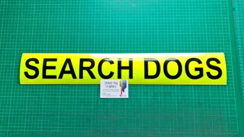 SEARCH DOGS Magnet K9 Handler Car Door Magnets Police Search /& Rescue 620mm