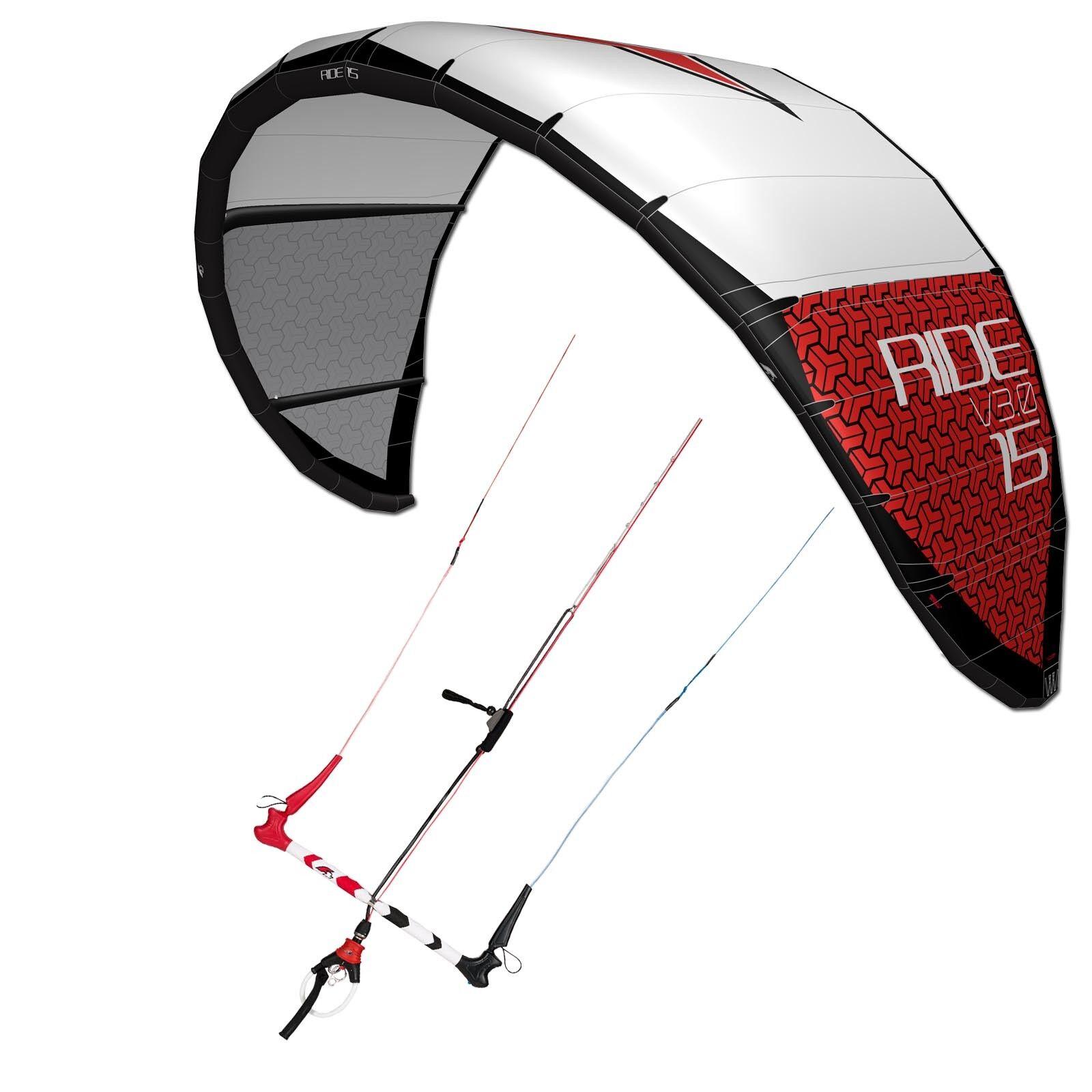 Kite Set F2 Ride V3.0 201815 M ² Includes Control bar  Credver Delta Kite