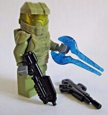 Lego Custom HALO MASTER CHIEF Spartan Minifigure -Olive- BrickArms Rifle, DMR