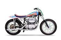 Evel Knievel Harley Davidson Ironhead Vintage Stunt Motorcycle Poster 36x54