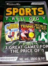 Sports Trilogy. Beach soccer Tennis Cricket PC GAME - FREE POST