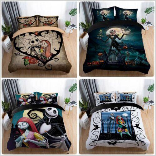 Nightmare Before Christmas Bedding Set Halloween Duvet Cover Pillow Case Bed Set
