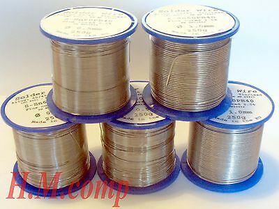 Solder Wire Lead 60/40 HQ Flux Multicored Solder  various Dia./ Reels DIY etc.
