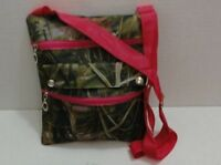 2 Brand Hardwoods Camo Cross Body Bags / Purses With Hot Pink Trim