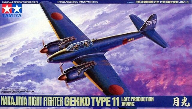 Tamiya 1/48 NAKAJIMA GEKKO Type 11 Night Fighter Late Production (Irving) 6107# #