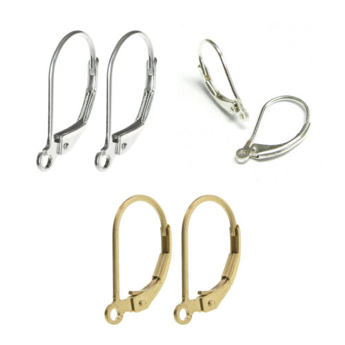 925 Sterling Silver// 14K Gold Filled Leverback Earwire Dangle Connector 9mm//10mm