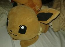 "Pokemon Plush Eevee Laying 15"" Banpresto Big Pillow Cushion UFO doll figure toy"