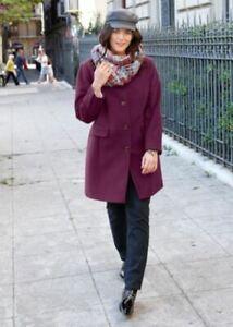 Damen Mantel Wolle Winter große Größen Warm Winterjack berre Größe 50 Wollmantel