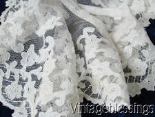 Antique Applique French Net Lace Collar