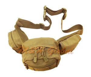 TAN Molle Tactical Fanny Pack Pistol Gun Pouch Case Carrier Pack