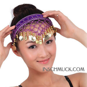C130-Belly-dance-Hairband-with-golden-Coins-Hair-accessories-Head-band-Headdress