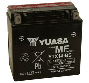 Genuine-Yuasa-YTX14-BS-Motorbike-Motorcycle-Battery-Inc-Free-Yuasa-Biker-Snood
