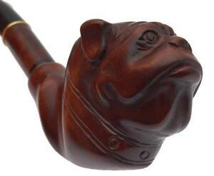 Prima Classe Nuovo intagliati a mano fatto a mano Fumo PIPA/PIPE * Bulldog * per 9 mm