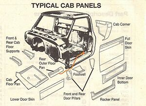 New 67 72 Chevrolet C10 C20 Truck Left Side Outer Floor Panel Extension Ebay