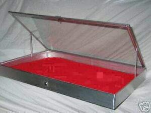 Aluminum-Display-1150-Show-Case-ANODIZED-for-Knives-Cards-Gun-Jewelry