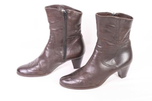 20D Fabiani Damen Stiefeletten Stiefel Gr. 36 Leder braun Absatz Budapester 0fd9f238fe