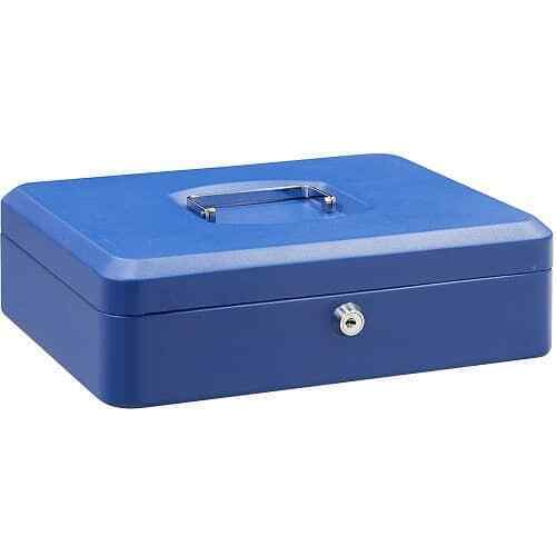 Caja fuerte metalica portatil caudales gigante Azul