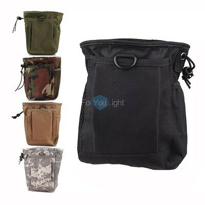 Tactical MOLLE Folding Ammo Magazine Dump Pouch Drop Down Mag Utility Bag Small