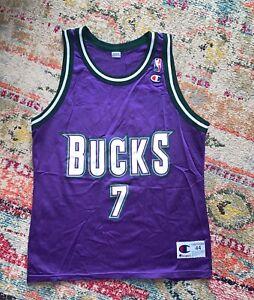 Details about Vintage Terrell Brandon Milwaukee Bucks NBA basketball Champion jersey Sz Large
