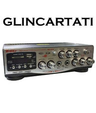 AMPLIFICATORE AUDIO STEREO INGRESSO MICROFONI KARAOKE USB SD RADIO DISPLAY AUDIO