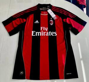 New 100% Auth Adidas 10/11 AC Milan Home Jersey Zlatan Ibra #11 ...