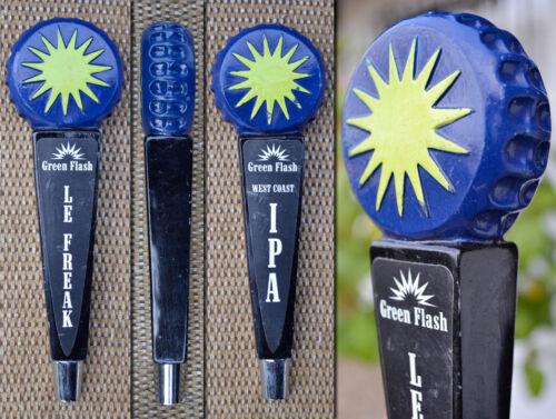 Green Flash Logo Star Bottle Cap Le Freak//West Coast IPA-2 Side Beer Tap Handle