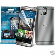 Tough Thin Clear Gel Case Cover & Smart Glaze LCD Film for HTC One M9